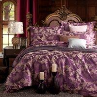 Wholesale Silk Quilt Comforter Black - Wholesale-styles jacquard silk cotton bedclothes Queen size bedcover comforter duvet quilt cover bed sheets pillowcase 4pc bedding set
