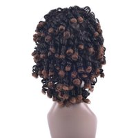 Wholesale Short Brown Men Curly Wig - hanzi_beauty 5 Colors Synthetic Hair High Temperature Fiber Short Brown Party Hair Cosplay Wigs Afro Curly Wigs for Black Women & Men