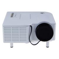 ingrosso proiettore del telefono hd-All'ingrosso- Multimedia Home Cinema Theater UNIC UC28 / UC28 + HD 1080P LED LCD Proiettore digitale con HDMI VGA AV USB SD per PC, TV Phones DVD