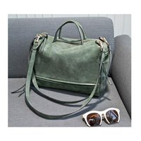 Wholesale Cheap Womens Handbags - 2015 fashion big womens bags velour soft leather handbag grey woman soft bag summer shoulder bag and women messenger bag cheap