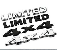 4x4 çıkartmalar toptan satış-Yüksek Kaliteli Araba Metal Çıkartmalar 4x4 SINIRLI Kuyruk Amblem Off-road SUV Araba Vücut Sticker Marka araba Için Fit