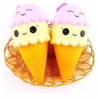 Wholesale Play Food Ice Cream - 2017 squishies toy Kawaii Squishy Large Ice Cream Squishies Slow Rising Children decompression food play model Ice cream bread Toys