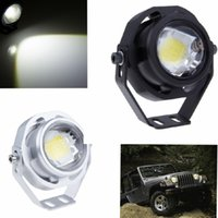 Wholesale Cover Rear Fog Light - 10W CREE LED DRL Eagle Eye Car Fog Daytime Running Reverse Backup Parking Signal Light Lamp Super Bright sliver black body Cover
