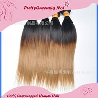 2015 Livraison gratuite Indian Ombre 1B / 27 Virgin Straight Hair 6A 4pcs Malais Remy Hair Bundles Straight Ombre hair 76