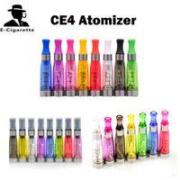Wholesale Electronic Cigarette Cartomizer Ce5 - EGO CE4 Atomizer 1.6ml Electronic Cigarette Cartomizer Mix Colors Match r 510 eGo Battery VS CE4+ CE5 CE6