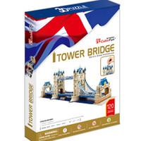 Wholesale Tower Bridge Model - Wholesale-Promotion Gift Cubic Fun 3D Puzzle Toy Tower Bridge (UK) Model DIY Puzzle Toy MC066h