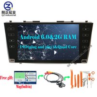 2G + 16G Quad core Android 6.0 HD 9inch Car DVD radio para Toyota Camry 40 2006-2011 con 3G 4G Wifi GPS BT