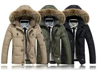 Wholesale Qiu Dong Jacket - New Men's down jacket Qiu dong thickening heavy hair brought down jacket male coat