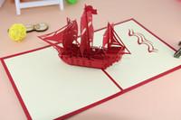 origami 3d pop up hediye toptan satış-Yaratıcı