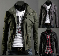 Wholesale Mens Sexy Jackets 3xl - Free Shipping 2014 New Coat Mens Slim Sexy Top Designed Jacket men Size M~3XL Wholesale&Drop Shipping