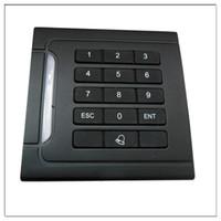 Wholesale Rfid Reader Keypad - Waterproof RFID ID EM Proximity Card Reader & Keypad Wiegand26 125KHz for Access Control Free Shipping
