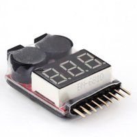 Wholesale Antenna Tester - 1-8S LED Lipo Voltage Indicator Checker Tester Low Voltage Buzzer Alarm Free Shipping 1STL