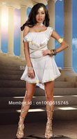 Wholesale Women S Goddess Costume - Wholesale-one shoulder Greece goddess costumes,Indian Queen cosplay,halloween costumes for women free shipping MS1391