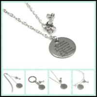 Wholesale Dream Pendant - 12pcs lot Laughter is timeless, Imagination has no age and Dreams are Forever necklace bracelet keyring bookmark mouse key