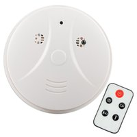 Wholesale HD x960 Smoke Detector Detection Model Hidden Spy Camera DVR Camcorder DV Remote White Smoke DVR Online