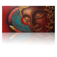 Wholesale Large Canvas Paintings Wall Decor - Large Size Religion Buddha Painting Canvas Wall Decor Arts Printinting Canvas without Framed Water Resistant(unframed)50x100cm