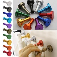 Wholesale Metal Wall Hooks Wholesale - 8 pcs DIY Towel Wall Hook Bathroom Kitchen Clothes Key Hat Bag Hanger Rack Holder Hot Selling
