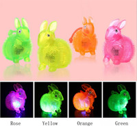 Wholesale Light Up Bunny - Cute Light-Up Stress Balls Rabbit Bunny LED Flashing Toys