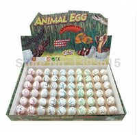 Wholesale Grow Eggs - Wholesale-240pcs lot Novel Water Hatching Inflation Dinosaur Egg Watercolor Cracks Grow Egg Educational Toys Gift Free Shipping