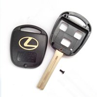 Wholesale Remote Car Key Shell Lexus - High quality car key blank for Lexus 3 button remote key shell with TOY48 short blade 20pcs lot free shipping