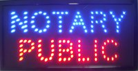 Wholesale Led Electronic Signs - Hot selling NEON NOTARY PUBLIC SIGNS 10X19 inch high bright light up electronic led Plastic PVC frame Display