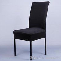 Wholesale Computer Chairs Wholesale - Universal Black Stretch Spandex Chair Cover for Wedding Banquet Hotel Home Computer and Party Supplies 11 Color Available Free Shipping