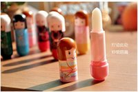 Wholesale Kimono Lip Balm - New Lovely Lip Balm Lipstick Cute Cartoon Lip Balm Kimono Doll Flavor Lip Balm Nourishing Moisturizing 576pcs lot DHL Free