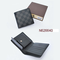 Wholesale Girls Tartan Dresses - 2017NEW Hot Men Famous Brand Wallets,Fashion Men Purse Arteira Masculina Short Coin Pocket Men Purse Luxury L Brand Carteras #5188