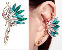 Wholesale Silver Butterfly Ear Cuff - Crystal S925 silver ear cuff earrings Korean butterfly ear clips earring for women girl love ear cuffs earhook jewelry YS-C-C1