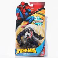 örümcek adam film figürleri toptan satış-İnanılmaz Örümcek Adam Oyuncak Örümcek Adam Venom PVC Şekil Oyuncak 18 cm Yeni Film Sürümü Rakamlar 18 cm
