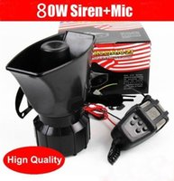 Wholesale 80W Car Horn Siren PA System V Loud Megaphone Mic Motorcyle RV Truck