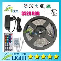 led kontrolörleri toptan satış-Su geçirmez RGB 3528 RGB CW WW Yeşil 5 M 300 led aydınlatma Led ışık Şerit Su Geçirmez 44 Tuşları IR Uzaktan Kumanda + 12 V 2A Güç Kaynağı