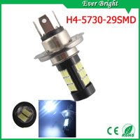 Wholesale Can Bus Led Bulbs - EverBright 50-Pack White High Power 6000K 5730-29SMD CAN bus Car Vehicle Fog Light Headlight Driving Lamp DRL(Day Running Light) Head Light