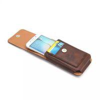 funda de piel galaxy s5 belt al por mayor-Rhinoceros Pattern Hip Holster Leather Clip Case para Iphone 6 6S Plus 5 5S Galaxy S5 S6 Edge Plus S7 Hebilla PU Vertical 360 cinturón Skin Pouch
