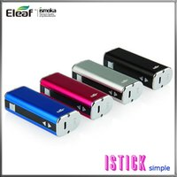 e cigarrillos mods vv vw al por mayor-Eleaf iStick 20W 2200mah 510 eGo batería paquete simple VV VW Box Mod batería estilo ADN con pantalla OLED para cigarrillos electrónicos