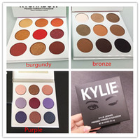 Wholesale Make Up Color Palette - Christmas make up Best Newest 9 Color kylie The Purple Palette Eyeshadow Fall collection Eye shadow Kylie Jenner Cosmetics Palette