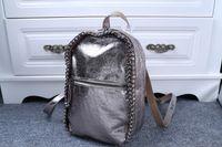 Wholesale Shool Bags - Free shipping 2015 newest stella shoulder bag Stella Falabella McCartney Faux Leather Shool Bag Beckett chain bag