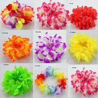 Wholesale Hawaiian Hula - Hula Hawaiian Flower Garland Headband Lei Tropical Beach Party