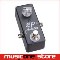 gitar için destek toptan satış-Gitar Efekt Pedal Boost Gerçek Bypass / MINI EP BOOSTER-GITAR PEDALLAR BOOST SIYAH Ücretsiz kargo MU0366