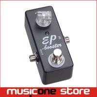 efectos de mini guitarra al por mayor-Pedal de efecto de guitarra Boost True Bypass / MINI PE BOOSTER-GUITARRA PEDAL BOOST NEGRO Envío gratis MU0366