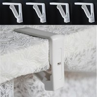 Wholesale Plastic Tablecloth Clip - New Creative Plastic 4Pcs Table Cover Cloth Stainless Steel Tablecloth Clip Clamp Holder Party Wedding