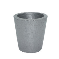 Wholesale Furnace Cast - Wholesale- 4# Foundry Silicon Carbide Graphite Crucibles Cup Furnace Torch Melting Casting Refining Gold Silver Copper Brass Aluminum