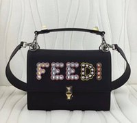Wholesale Ten Phones - New 2018 four styles imported first layer calfskin genuine leather two size ten color top quality with rivets metal women cross shoulder bag
