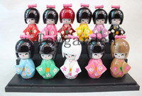 Wholesale japanese garden flowers for sale - Group buy sell mix Lovely Japanese Kokeshi Doll HANAZONO FLOWER GARDEN by Usaburo w gift