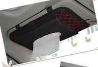 Wholesale Wholesale Leather Tissue Boxes - Wine triple CD folder Tissue pumping 20pcs a bag, microfiber leather car visor tissue boxes. Quality Suite CD folder 29-1A \ 168