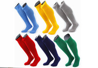 Wholesale Wholesale Black Soccer Socks - Wholesale Socks Men Football Socks Multi Strips Soccer Sock Sox Hosiery Sport Stockings
