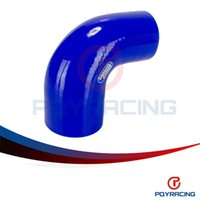 "Wholesale Elbow Silicone Hose - PQY STORE-BLUE 2.5""-3"" 63mm-76mm 90 Degree Elbow Reducer Silicone Hose Pipe Turbo Intake PQY-SH9025030"
