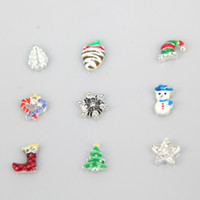 Wholesale Owl New Arrivals - 2015 New Arrival Lovely Mixed Christmas Alloy Floating charms for Origami Owl Lanyard ID Locket 40pcs lot