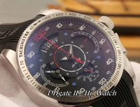 Wholesale Grand Calibre 17 Rs Watches - Super Clone SLS SLR Calibre 17 RS Grand Car Rera Steel Black Dial Miyota Quartz Chronograph Mens Watch Rubber Stopwatch Spots Watches TGA183