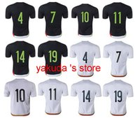 Wholesale Thailand Wholesale Football Jersey - Customized Thailand Quality 2015-16 Jersey ,Mexico Home Black And Away White Short Sleeve Soccer Jerseys Football Jersey Tops Soccer Wears